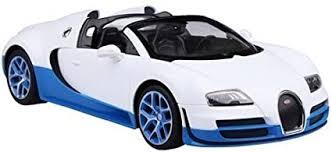 1:32 diecast bugatti chiron alloy car model. Amazon Com Radio Remote Control 1 14 Bugatti Veyron 16 4 Grand Sport Vitesse Licensed Rc Model Car White Blue Toys Games