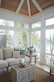 Sears Furniture Kitchener The Screened In Porch Features Stained Shiplap Ceiling And Dark
