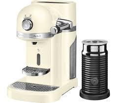 nespresso by kitchenaid artisan 5kes0504bac coffee machine with aeroccino 3 almond cream