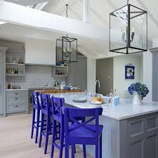 royal blue bar stools. Plain Stools View In Gallery Neutral Kitchen With Royal Purple Bar Stools For Royal Blue Bar Stools