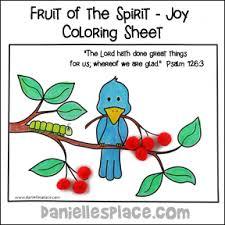 Fruit Of The Spirit Bible Crafts For Joy