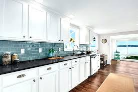 kitchen blue glass backsplash. Sea Glass Kitchen Backsplash Blue Tile