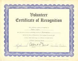 Volunteer Certificates Volunteer Certificate Katieroseintimates Com