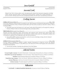 Restaurant Cook Resume Sample Chef Resume Objective Restaurant Line