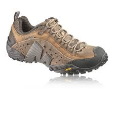 details about merrell mens intercept brown grain leather trail outdoors walking hiking shoes