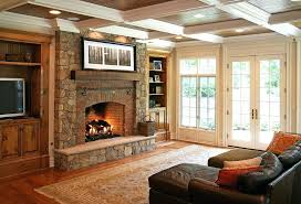 ugly brick fireplace red mantel ideas