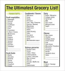 Grocery Shopping List Excel Template 425057600056 Example Grocery