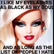 i like my eyelashes as black as my soul funny makeup meme picture