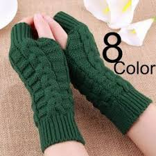 1 Pair Fashion Womens Knitted Gloves Fingerless Gloves for ... - Vova