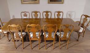 regency dining chairs walnut set with queen anne table ebay