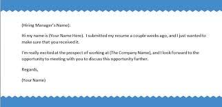 follow up letter sample follow up email sample after sending resume