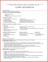 Elegant Advertising Resume Template Personal Leave