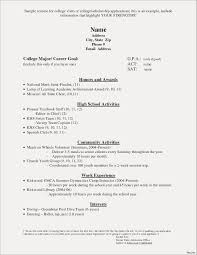 Resume For College Application Template Inspirational Elegant Sample