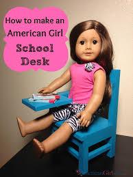 diy american girl doll school desk