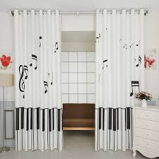 ... Super Design Ideas Music Note Curtains And White Unique Nursery Drapes  ...