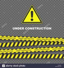 Black And Yellow Stripes Border Under Construction Background With Black And Yellow Striped Borders