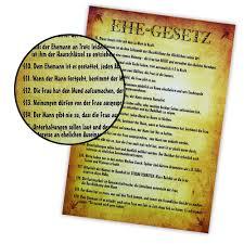 Poster Ehegesetz A2 Plakat Und Urkunde 20 Lustige Paragraphen
