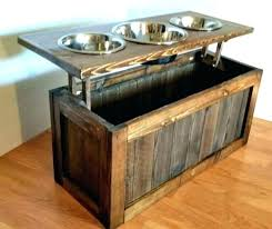 wood dog food stands wooden bowl stand bowls feeder rustic dish 3 personalized raised with tray wood dog food stands