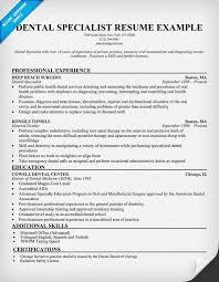 Fingerprint Specialist Sample Resume Extraordinary Dental Specialist Resume Sample Dentist Health Resumecompanion