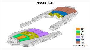 Milwaukee Die Chart Milwaukee Theatre Seating Chart