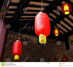 Hanging Paper Lantern Lights Indoor Asian Chinese Red Lantern Light China Asia Paper Lamp