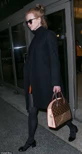 louis vuitton tote celebrity. celebrity bag: nicole kidman with a christian louboutin x louis vuitton bag tote