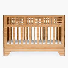 io crib  modern solid bamboo crib  kalon studios us