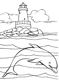 Small Picture Under the sea coloring pages lighthouse and dolphin ColoringStar