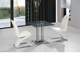 clear glass furniture. Small Clear Glass Dining Table And 2 Faux Chairs In Cream Set Furniture