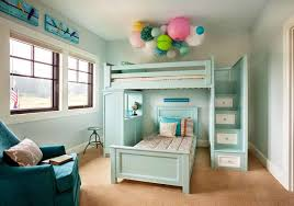 bunk bed with stairs for girls. Bunk Beds With Stairs For Girls White Bedding Set Before The Dark Wall Matched Desk On Bed T