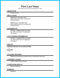 Inspiring Resume For First Job No Experience 86 On Creative Resume with  Resume For First Job No Experience