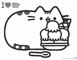 Pusheen Cat Coloring Pages Free Dreadeorg