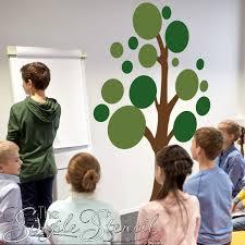 large polka dot tree wall decal