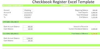 Microsoft Excel Checkbook Template Microsoft Excel Checkbook Register Template Check Bank Free