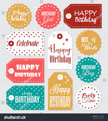 Birthday Tags Template Printable Happy Birthday Labels Download Them Or Print
