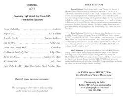 Theatre Program Template Umbrello Co