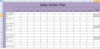 Get Sales Action Plan Template Xls Free Excel Spreadsheets And