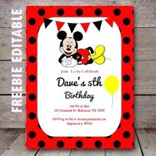 Free Templates For Invitations Printable Mickey Birthday Invitations Free Free Editable Mickey Mouse