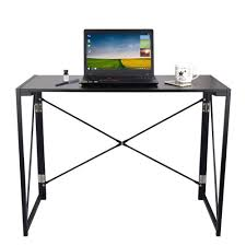 dripex folding desk wooden foldable table folding computer desk study table for home and foldable office