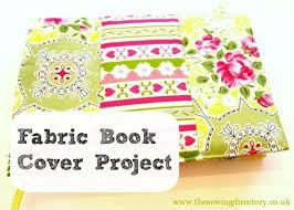 fabric book cover sewing project by lynne sharpe