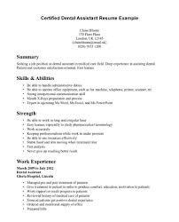 Charming Sample Resume For Dental Assistant With No Experience