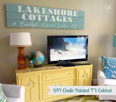 diy painting furniture ideas. DIY Chalk Painted TV Cabinet At Thehappyhousie 2 Diy Painting Furniture Ideas