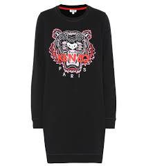 Kenzo Size Chart Tiger Logo Cotton Sweater Dress