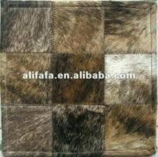s patchwork leather rug genuine cowhide