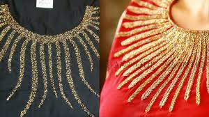 Beads Design Ideas Clothes Beautiful Beaded Neck Designs For Kurta Moti Work Kurta Neck Designs Latest Neck For Kurta