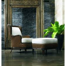palma all weather rattan outdoor lounge chair and ottoman set herringbone and company