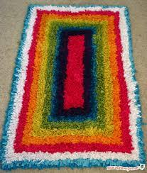 upcycled latch hook rug