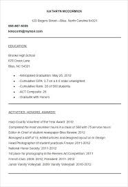 College Application Resume Activities Template Format Director Mesmerizing College Application Resume