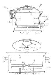 patent us6884971 slow cooker dual heating elements google patent drawing