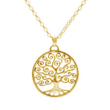 tree of life pendant 5 yellow gold